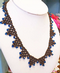 Crystal Laced Necklace - Beadwork Necklace Kit with SWAROVSKI® Crystal Xilions (Black ank JetAB2x)